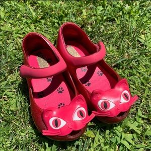 Mini Melissa cat shoes size 7